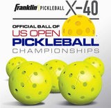 New 3 Franklin X-40 Pickleball Outdoor Ball set of 3 Optic Yellow
