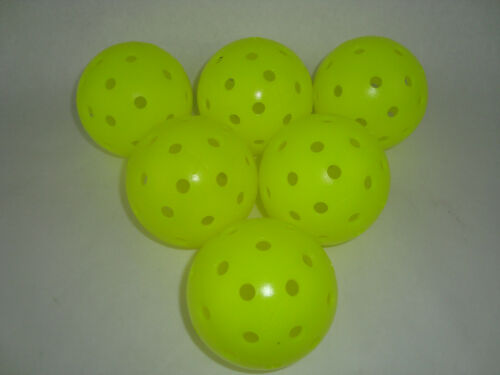 New 6 Franklin X-40 Pickleball Outdoor Ball set of 6 Optic Yellow
