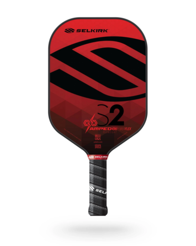 2021 Selkirk Amped X5 S2 Pickleball Paddle Midweight Fiber Flex Ruby Red