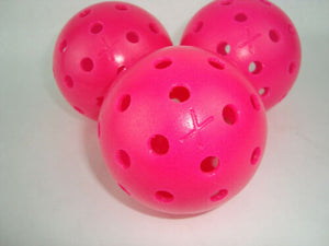 3 Franklin X-40 Pickleball Ball Pack of 3 Optic Pink Outdoor