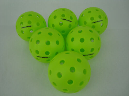 6 Onix Fuse G2 Outdoor Pickleball Balls USAPA Approved Neon Green Pack of 6