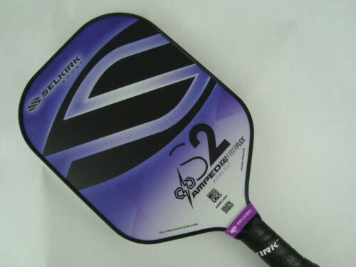 2020 Selkirk Amped X5 S2 Pickleball Paddle Midweight Fiber Flex Purple