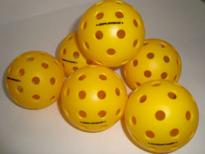 6 Onix Fuse G2 Outdoor Pickleball Balls Tournament Meet USAPA Pack of 6 Yellow
