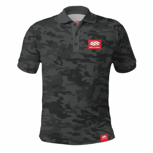 Selkirk Red Label Camo Men's Polo Stretch-Wik T-Shirt XL Black Camophlage