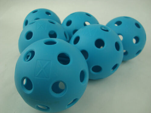 New 6 Franklin X-26 Pickleball Indoor Ball set of 6 Optic Blue