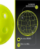 New 12 Franklin X-26 Pickleball Indoor Ball set of 12 Optic Green Yellow