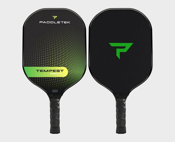 Paddletek Tempest Wave II Pickleball Paddle Graphite Dave Weinbach Barium Green