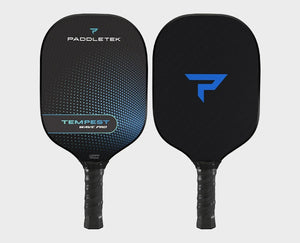 Paddletek Tempest Wave Pro Pickleball Paddle Graphite Dave Weinbach Riptide Blue