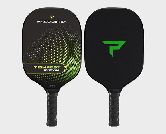 Paddletek Tempest Wave Pro Pickleball Paddle Graphite Dave Weinbach Barium Green