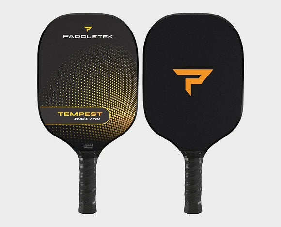 Paddletek Tempest Wave Pro Pickleball Paddle Graphite Dave Weinbach Yellow