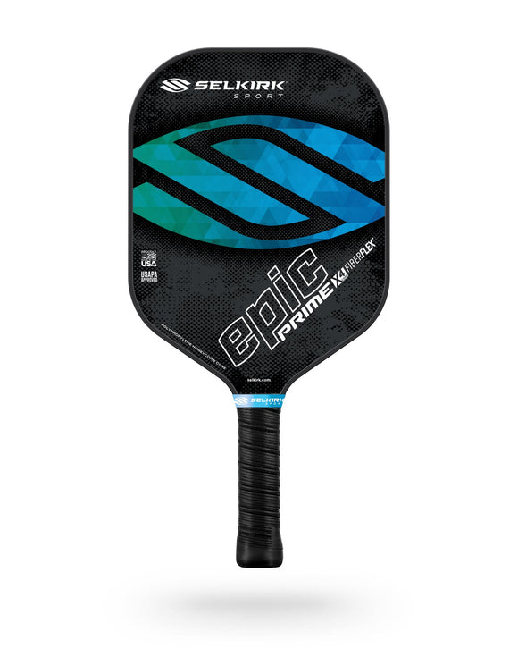 Selkirk Prime X4 Epic Pickleball Paddle Fiber Flex Tech Ocean Blue