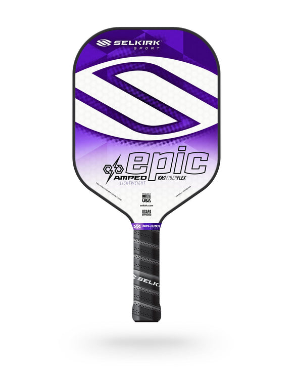 2020 Selkirk Amped X5 Epic Pickleball Paddle Lightweight Fiber Flex Purple