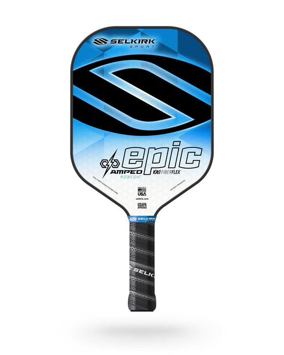 2020 Selkirk Amped X5 Epic Pickleball Paddle Midweight Fiber Flex Blue
