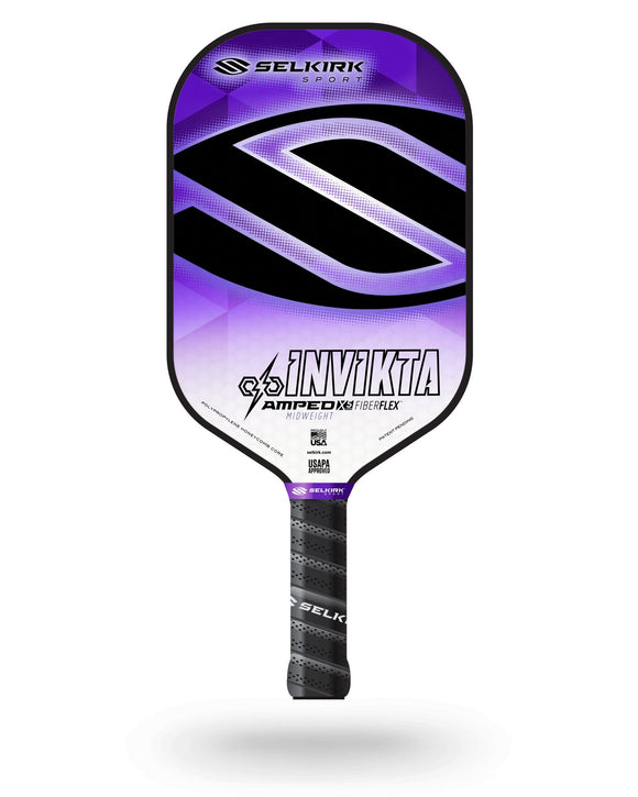 2020 Selkirk Amped X5 Invikta Pickleball Paddle Midweight Tyson McGuffin Purple