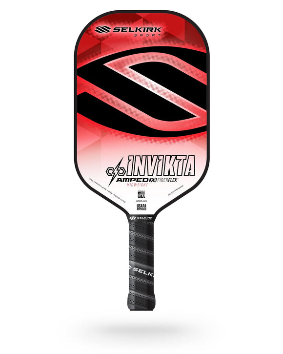 2020 Selkirk Amped X5 Invikta Pickleball Paddle Midweight Tyson McGuffin Red