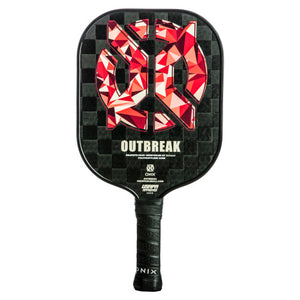 Onix Outbreak Carbon Fiber Pickleball Paddle Lucy Kovalova Matt Wright Red