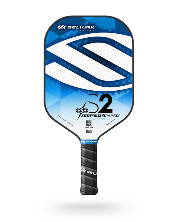 2020 Selkirk Amped X5 S2 Pickleball Paddle Lightweight Fiber Flex Blue