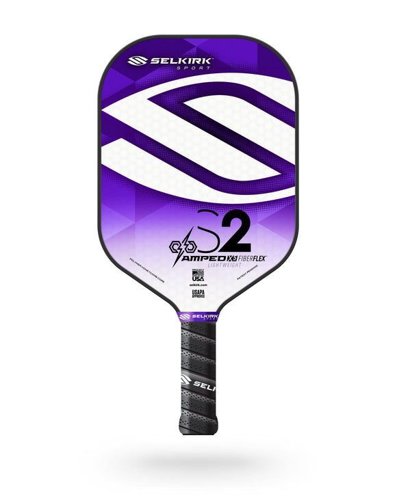 2020 Selkirk Amped X5 S2 Pickleball Paddle Lightweight Fiber Flex Purple