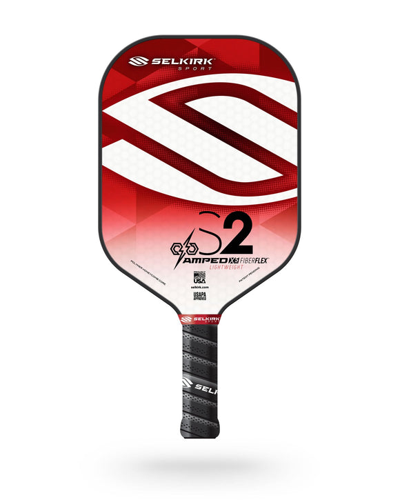 2020 Selkirk Amped X5 S2 Pickleball Paddle Lightweight Fiber Flex Red