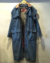 画像をギャラリービューアに読み込む, 80's Woolrich-Denim maxi coat-(size L)Made in U.S.A.
