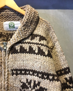 CANADIAN SWEATER COMPANY LTD.-Cowichan knit jacket-Made in CANADA