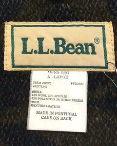 L.L.Bean-Nordic pattern coat-(size XL)Made in PORTUGAL