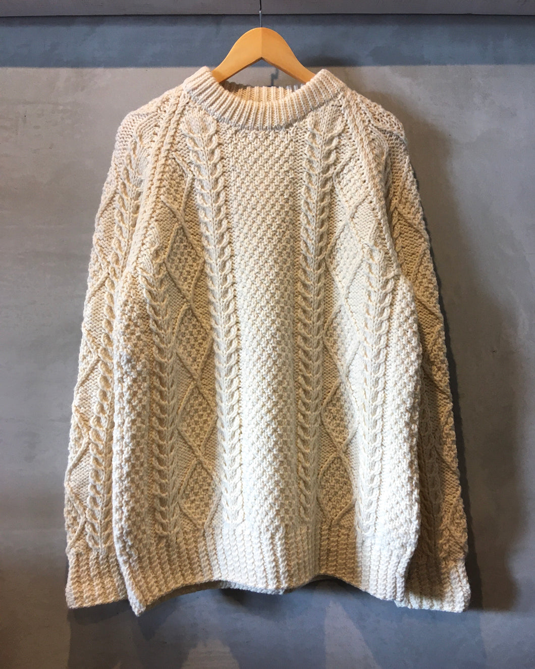 Alan knit-white-Made in IRELAND