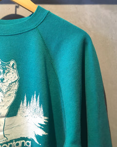 Montana Wolf-Sweat-(size L 42-44)Made in U.S.A.