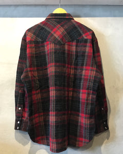 PENDLETON-Wool western shirt-(size XL)Made in U.S.A.