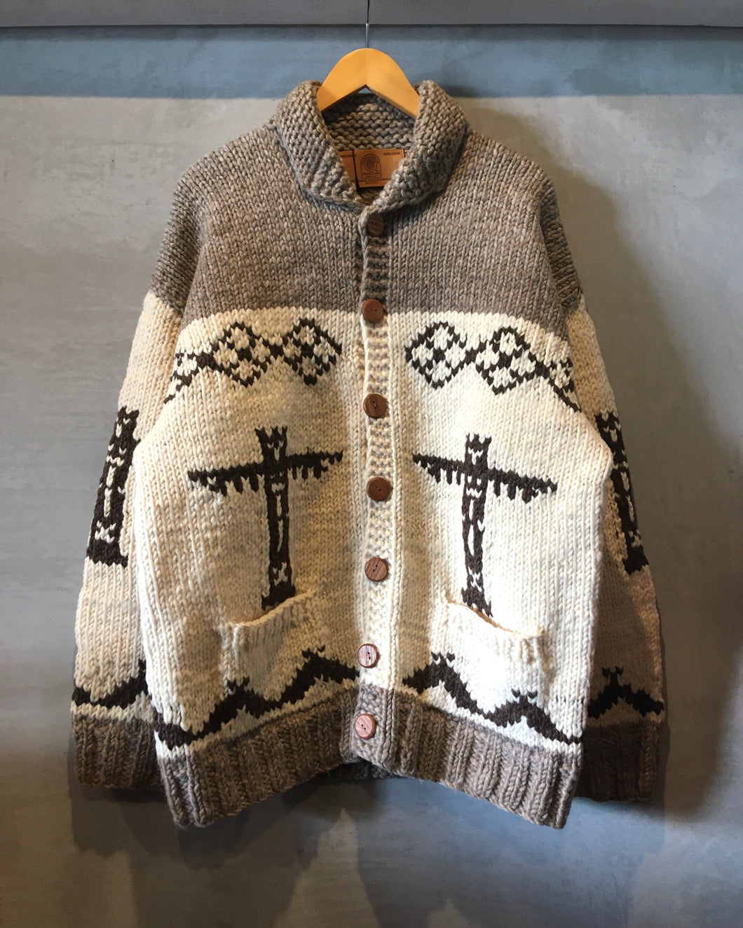 CANADIAN SWEATER COMPANY LTD.-Cowichan knit cardigan-Made in CANADA