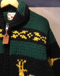 CHIEFTAIN-Cowichan knit jacket-Made in CANADA