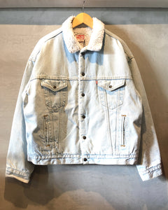 Levi's-Denim×Boa jacket-(size XL)Made in U.S.A.