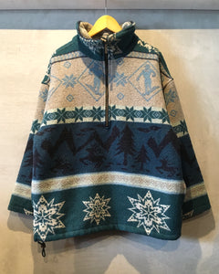 L.L.Bean-Nordic pattern pullover-(size L)Made in PORTUGAL