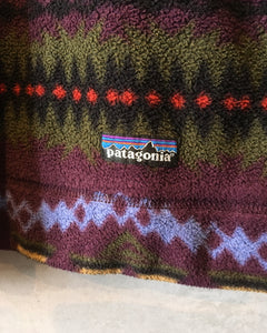 patagonia Native pattern-fleece pullover-(size L)Made in U.S.A.