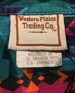 Western Plains Trading Co.-western shirt-(size M)