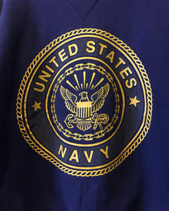 U.S.NAVY -sweat-(size L)Made in U.S.A.