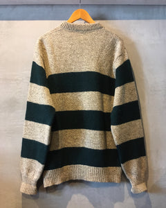 L.L.Bean-Stripe knit-(size L)Made in U.S.A.