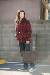 -George-Chapter vintage original bag-Dark Brown(size L)