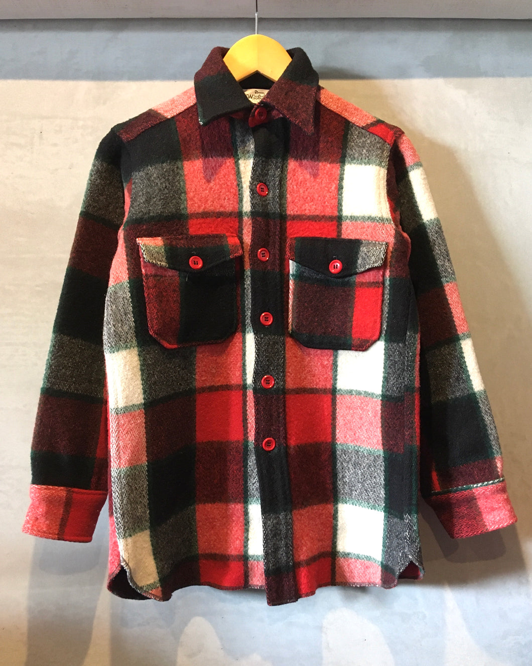 Woolrich-Wool shirt-(size S)Made in U.S.A.