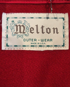 Melton-wool shirt Red-Made in U.S.A.