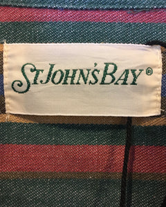 ST JOHN'S BAY -COTTON STRIPE BD SHIRT- (size L)