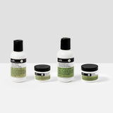 Travel size kits of Urth's Product - Face Wash, Shave Formula, Face Balm and Face Scrub