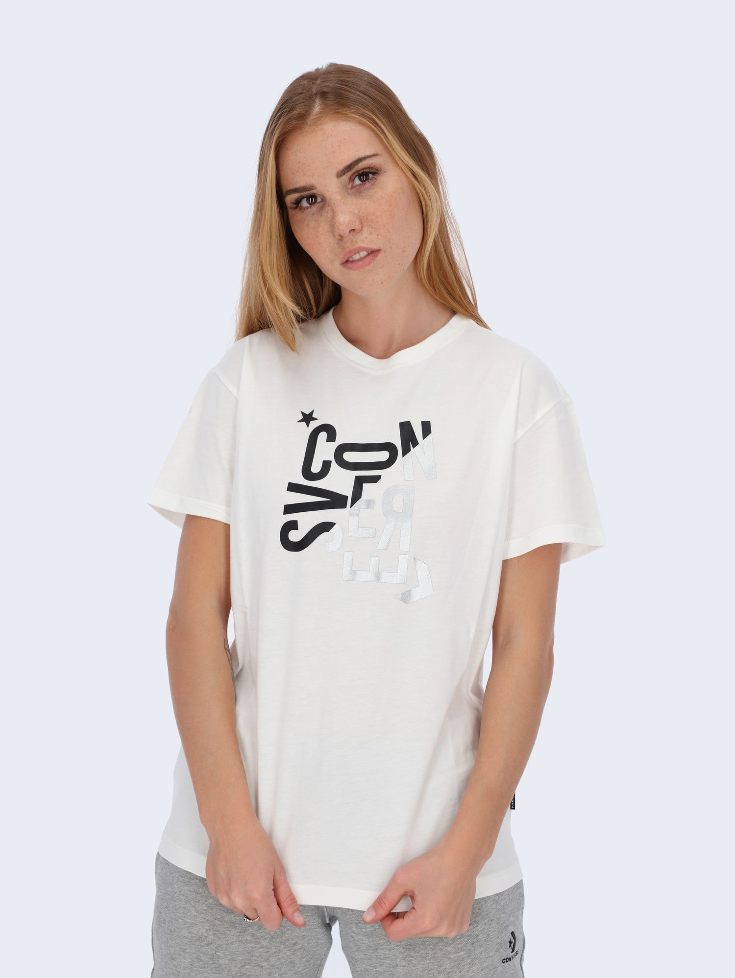 Converse Women's Hacked Logo Graphic T-Shirt - 10020551-a02