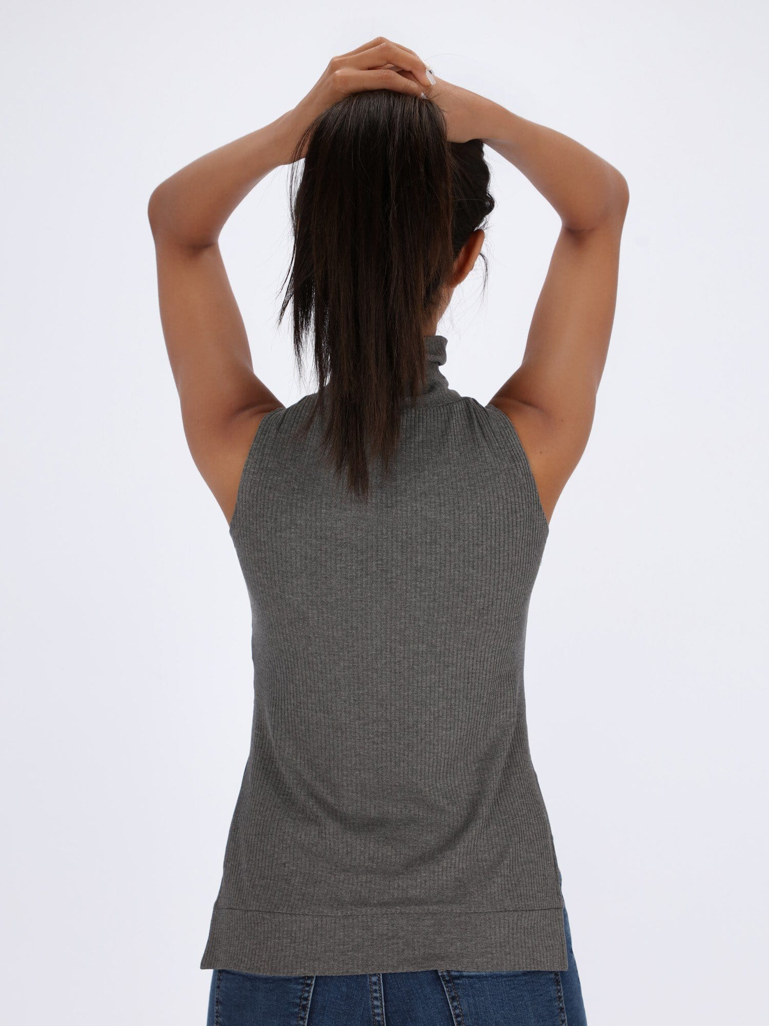 OR Tops & Blouses Ribbed Sleeveless High Neck Top