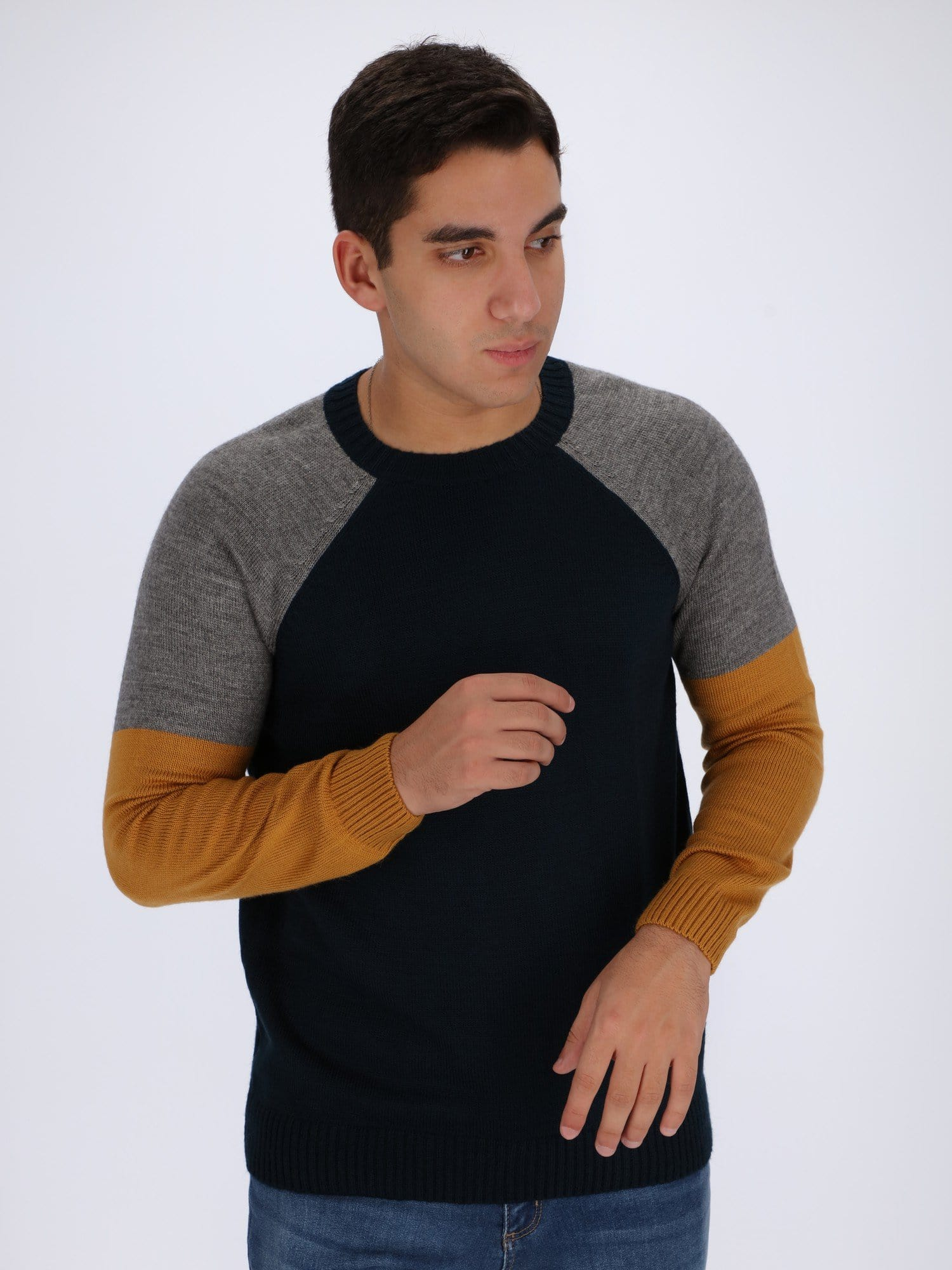 OR Knitwear Dark Navy / M Knit Sweater with Raglan Sleeves