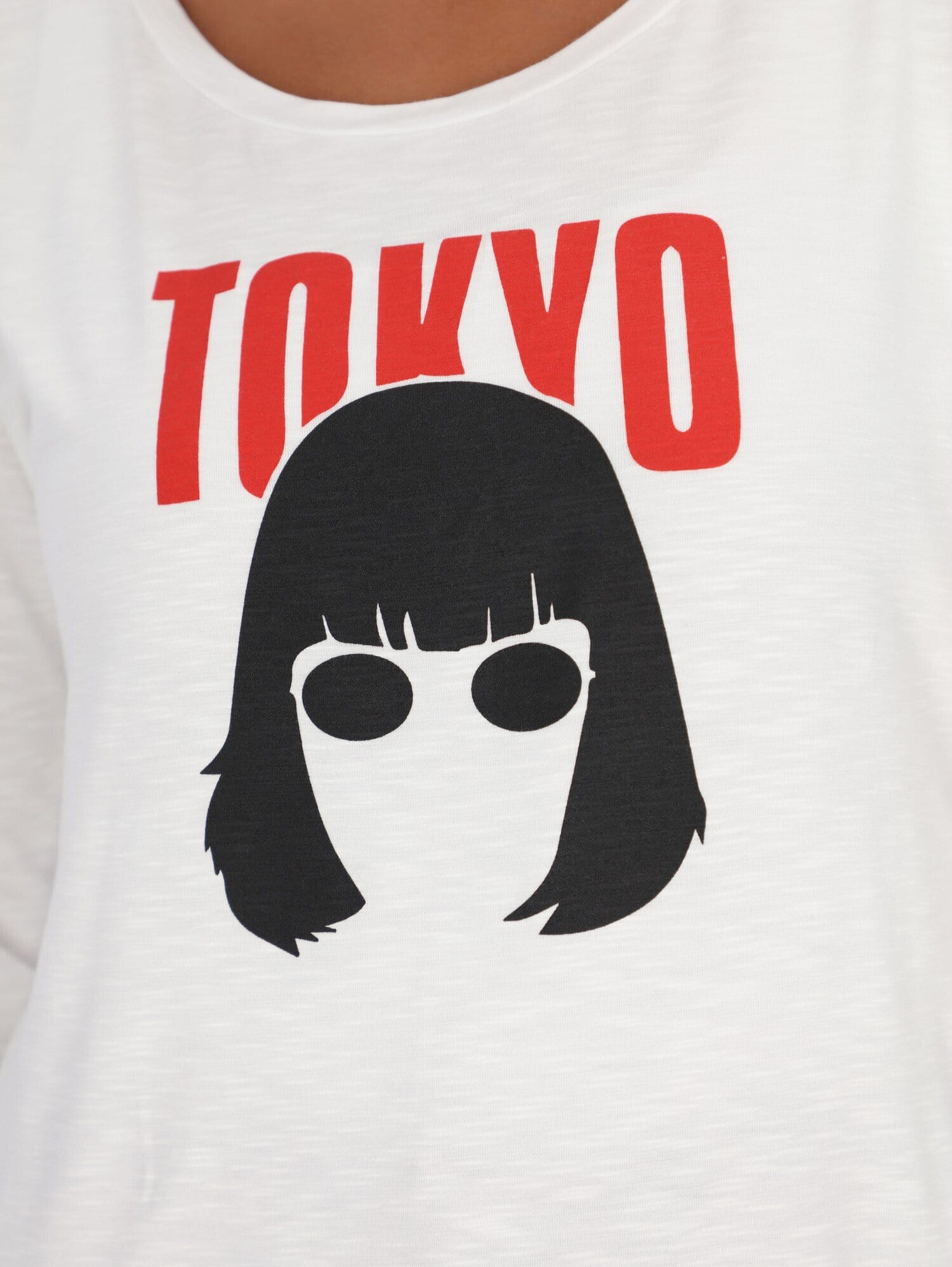 OR Tops & Blouses Tokyo Front Print Long Sleeve Top