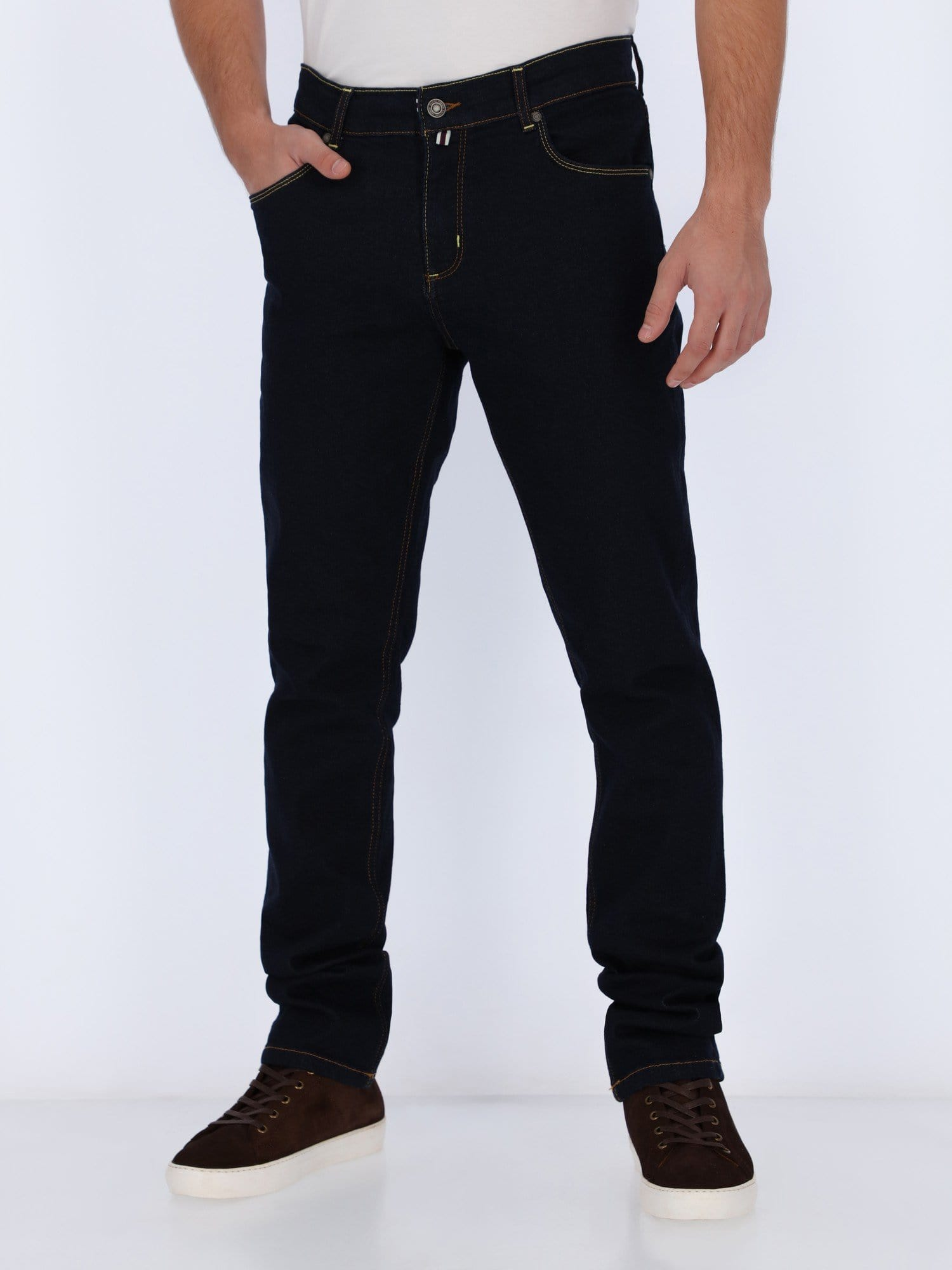 Daniel Hechter Pants & Shorts NAVY BLUE / 30 Jeans Pants with Stitched Back Pockets