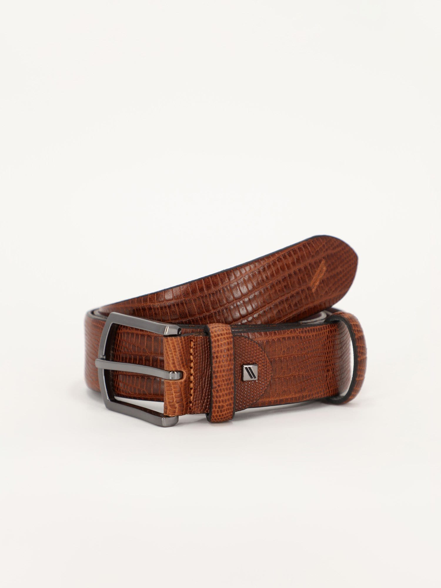 Daniel Hechter Other Accessories Snake Leather Belt with Solid Color