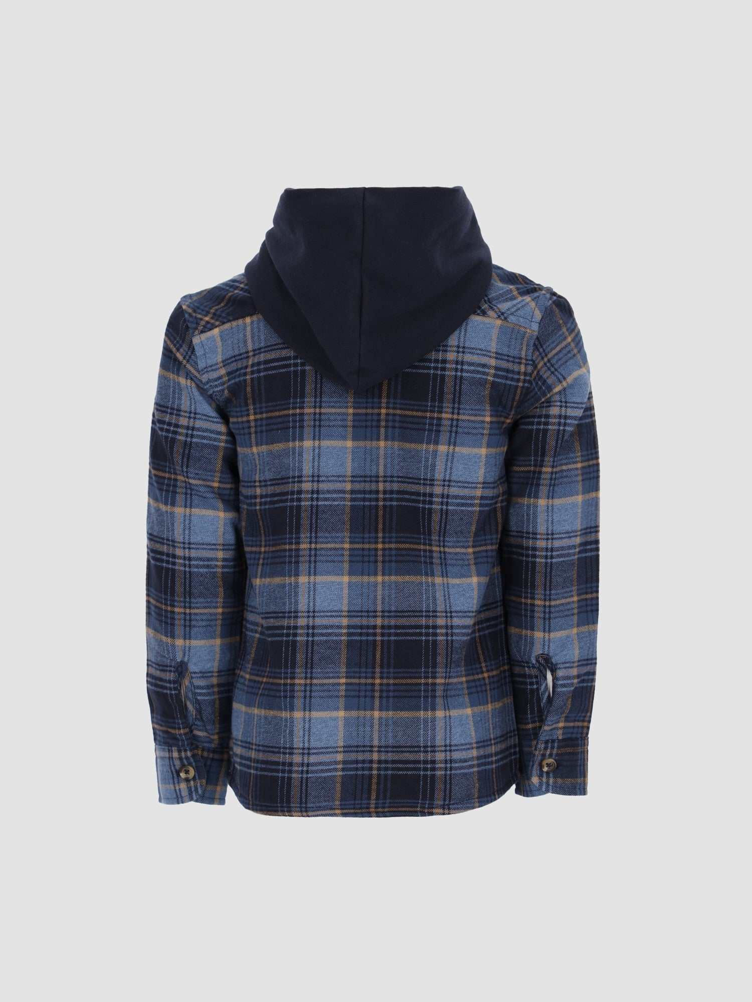 Kids Boys Plaid Shirt with Hood