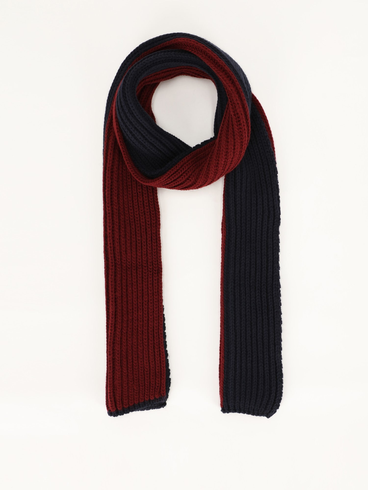 Bicolor Knitted Tricot Scarf